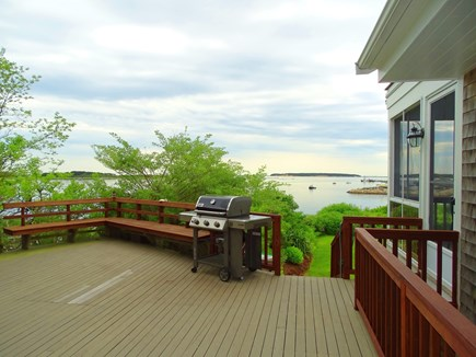 Wellfleet Cape Cod vacation rental - Large deck overlooking Wellfleet harbor