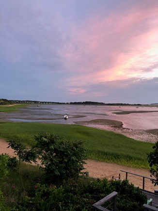 Wellfleet Cape Cod vacation rental - West facing sunset view from the rear garden