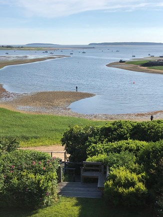 Wellfleet Cape Cod vacation rental - Harbor at low tide viewed from master balcony.