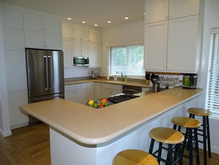 Wellfleet Cape Cod vacation rental - Updated kitchen with breakfast bar