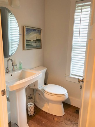Plymouth MA vacation rental - First Floor 1/2 Bath, stacked washer and dryer