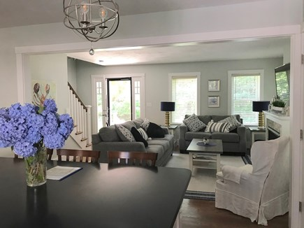 Plymouth MA vacation rental - View from kitchen to living room