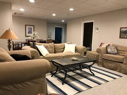 Plymouth MA vacation rental - Finished basement, TV, games, 1/2 bath, bonus bedroom,desk worksp