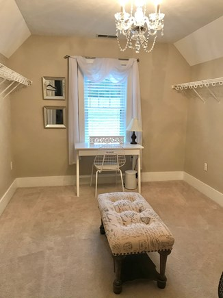 Plymouth MA vacation rental - Second floor master walk in closet, desk area for work at home