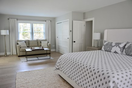 East Orleans Cape Cod vacation rental - Master Bedroom w/King Bed, sitting area w/pullout queen sofabed