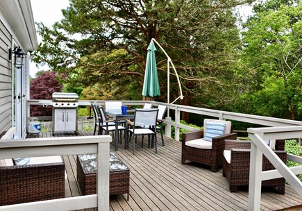 East Orleans Cape Cod vacation rental - Back deck overlooking expansive yard