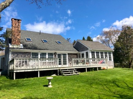 Orleans Cape Cod vacation rental - Super sunny back yard and large porch