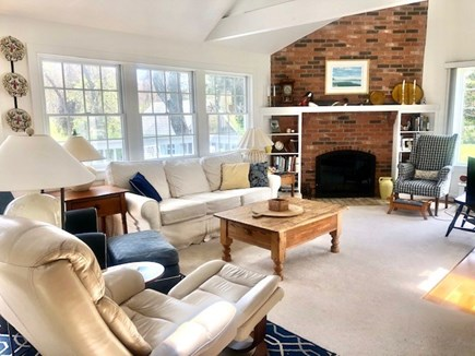 Orleans Cape Cod vacation rental - Living room w/couch and two recliners