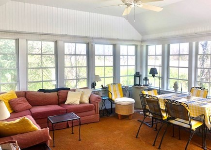 Orleans Cape Cod vacation rental - 3 season porch - very sunny with windows, best room in the house!