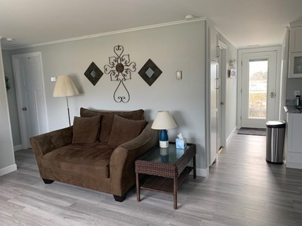 West Dennis Cape Cod vacation rental - Living room with NEW floors (view from front door)