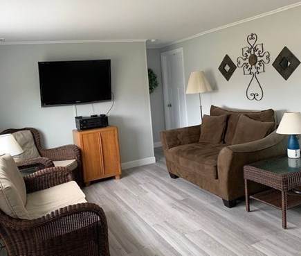 West Dennis Cape Cod vacation rental - Living room (view from kitchen)
