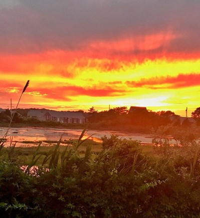West Dennis Cape Cod vacation rental - Gorgeous sunset over the marsh in the backyard!