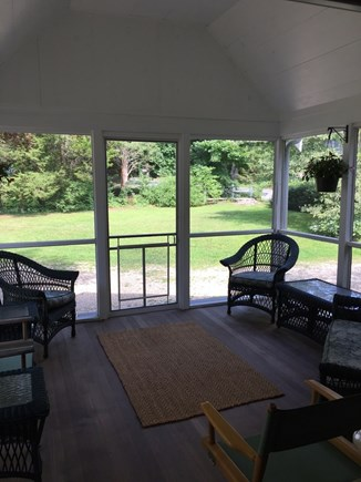 Orleans Cape Cod vacation rental - Screened porch looking out