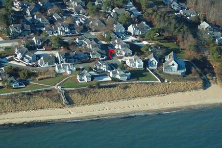 New Seabury, Maushop Village Cape Cod vacation rental - Aerial shot of condo to proximity to the beach.