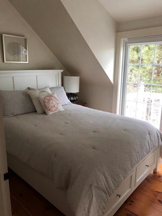 New Seabury, Maushop Village Cape Cod vacation rental - Master bedroom, new queen sized bed.Juilet balcony ocean views.