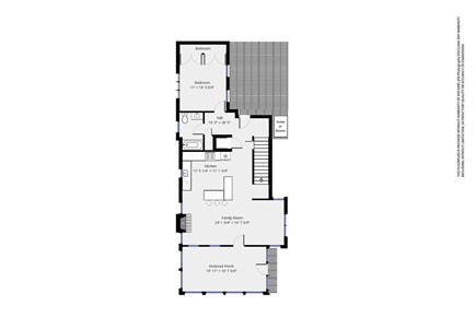 Dennis Cape Cod vacation rental - map of first floor