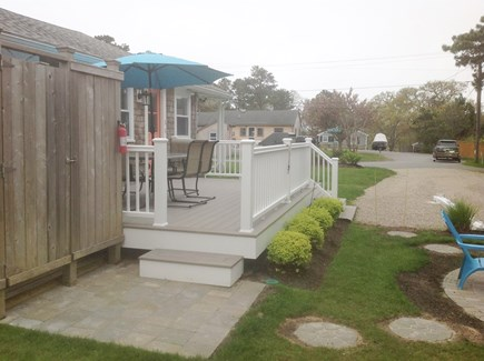 Chatham Cape Cod vacation rental - New deck for Morning Coffee, afternoon cocktails or dinner