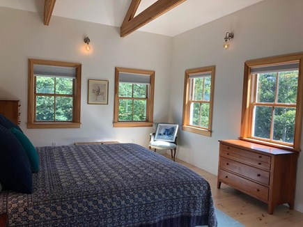 Woods Hole Cape Cod vacation rental - Guest Bedroom with Vaulted Ceiling, King Bed, Attached Bath