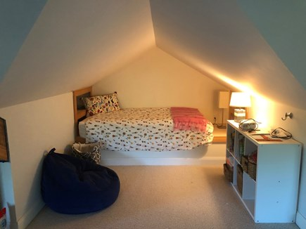 Woods Hole Woods Hole vacation rental - One 4 twin beds in nook in carpeted attic great for kids.