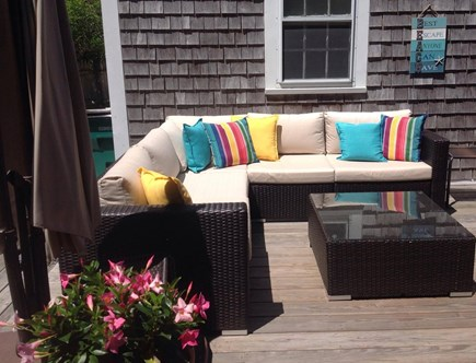 Yarmouth Cape Cod vacation rental - Comfy sectional with offset umbrella for shade