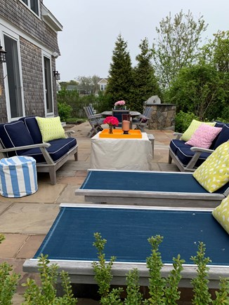 New Seabury, Popponesset New Seabury vacation rental - Patio w/built-in grill, table for 8, sofas, firepit,lounge chairs