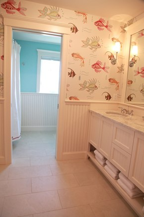 New Seabury, Popponesset New Seabury vacation rental - Second floor bathroom with separate area shower/tub.