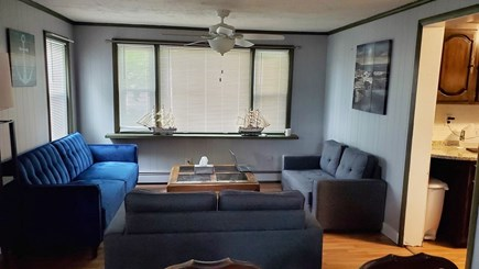 Dennis Cape Cod vacation rental - Large living area decorated with sailboat decor