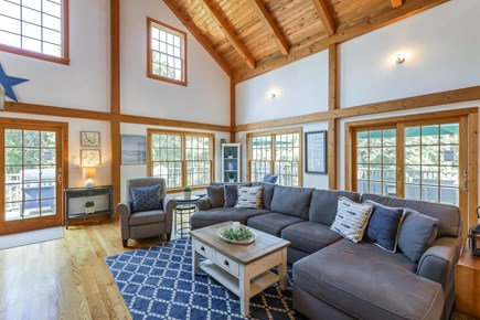 Brewster Cape Cod vacation rental - Spacious warm living room