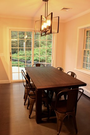Sandwich Cape Cod vacation rental - Dining area of kitchen with access to the back deck