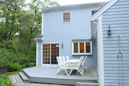 Sandwich Cape Cod vacation rental - Deck off of house, large yard with swing set
