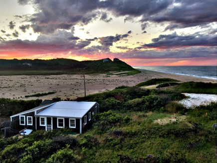 Truro, Ballston Beach Cape Cod vacation rental - View of Cottage & Ballston Beach- 30 seconds of step to ocean