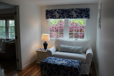 Chatham Cape Cod vacation rental - Loft area with cozy seating, opens to twin bed.