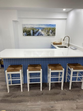 Chatham Cape Cod vacation rental - Wet bar and marble counters in lower level