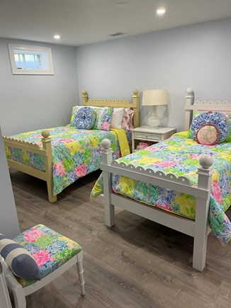 Chatham Cape Cod vacation rental - Bedroom on lower level with full and twin, stunning decor