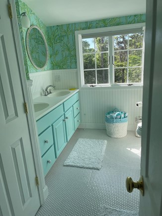 Chatham Cape Cod vacation rental - Master bath with Lilly Pulitzer walls