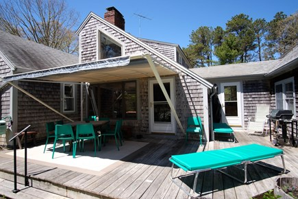 Orleans Cape Cod vacation rental - Large back deck w/ shade awning and outdoor furniture, gas grill
