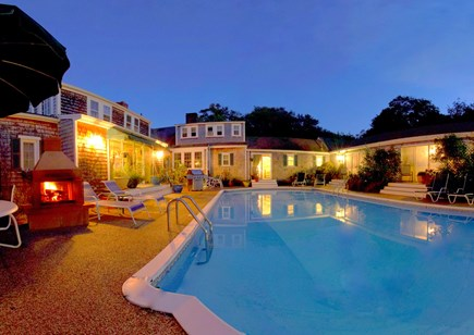 Barnstable Cape Cod vacation rental - Dine under the stars on your own deck, or poolside by the fire.