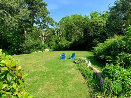 Barnstable Cape Cod vacation rental - Private deck that opens onto the backyard and hiking trails.