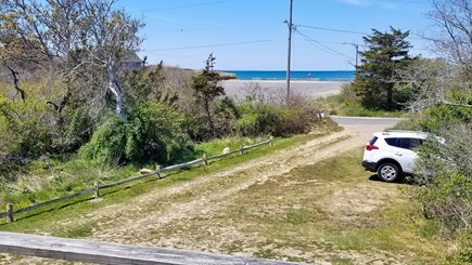 Eastham Cape Cod vacation rental - The front deck with awning has bay views