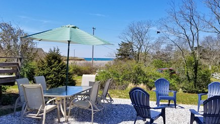 Eastham Cape Cod vacation rental - Outdoor seating with views of Cape Cod Bay