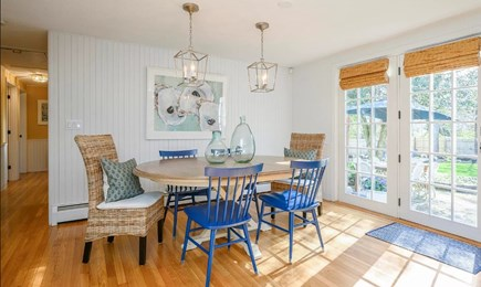 Centerville Cape Cod vacation rental - Lively dining set w/ seating for 6 open to kitchen & living room.