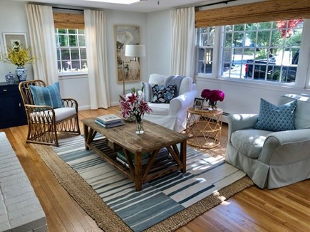 Centerville Cape Cod vacation rental - Bright sitting Room with working fireplace.