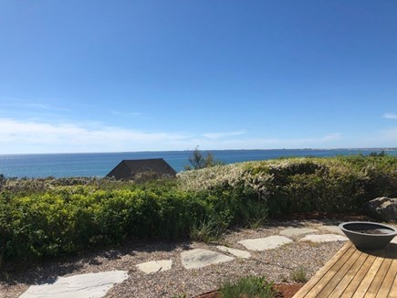 Truro Cape Cod vacation rental - Patio and view to the beach
