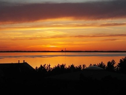 Truro Cape Cod vacation rental - Sunset off the deck