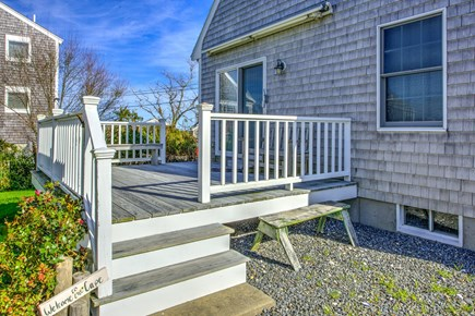 Sandwich Cape Cod vacation rental - Side deck is perfect for outdoor dining.