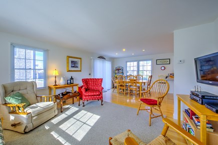 Sandwich Cape Cod vacation rental - Living Room opens to Dining area