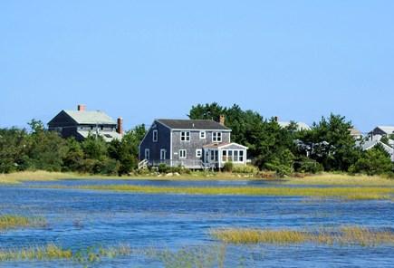 East Sandwich Cape Cod vacation rental - Rear deck overlooks Scorton Creek and salt marsh