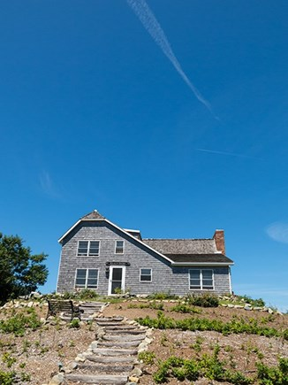 Brewster Cape Cod vacation rental - The house is perched on a bluff.