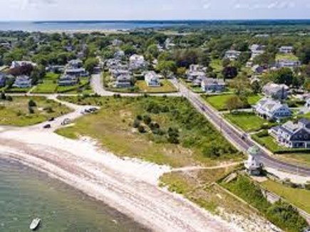 Hyannis Port Cape Cod vacation rental - Hyannis Port Harbor View and Estate House (White) on right