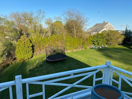 Hyannis Port Cape Cod vacation rental - Cottage deck lawn view